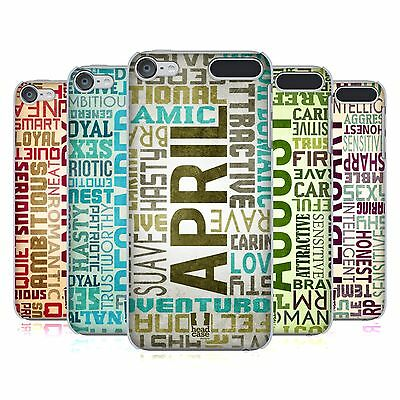 HEAD CASE DESIGNS BIRTH MONTH PERSONALITIES BACK CASE FOR APPLE iPOD TOUCH MP3