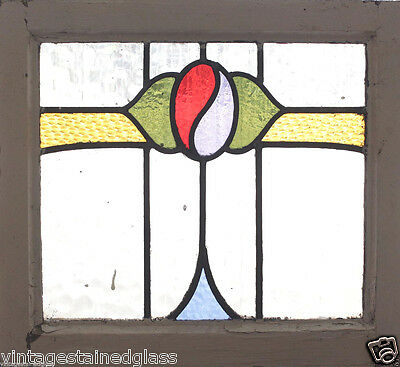 Antique Stained Glass Window Five Color Arts n Crafts Floret              (2707)