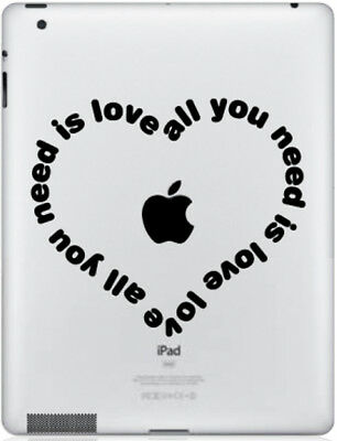 Stickers All You Need Pour Ipad Air Mini Pro 1/2/3/4 Retina Autocollants Decal