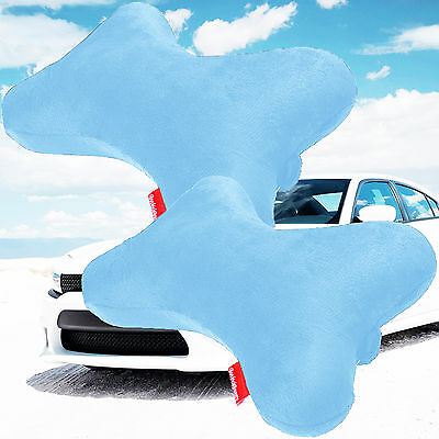 2x Dog Bone Car Neck Pillows Head Rest Memory Foam Travel Trip Posture Support