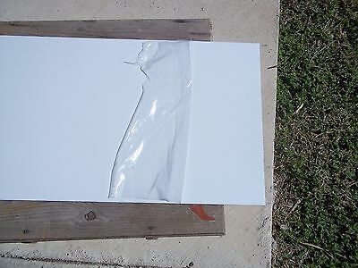 Rotary Engravable Sheet of Plastic Stock, white with black core