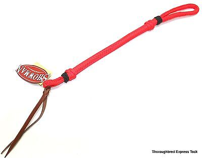 Showman Red Braided Nylon Quirt Whip Horse Tack Equine 48002
