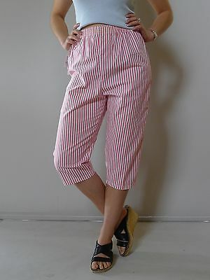 vintage retro 80s unused 8 10 XS crop pants red white stripe NOS as new tags