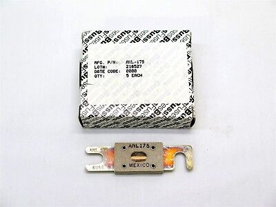 New Buss 175 Amp Current Limiter Fuse P/n Anl-175, Bombardier Learjet - Box Of 5