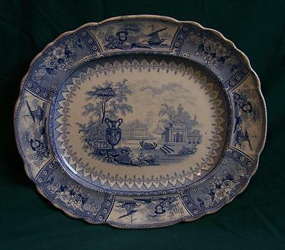 Thomas Mayer Canova blue and white Staffordshire platter