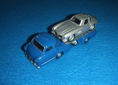 Mercedes Benz Set Renntransporter + W198 300 SL 1955 3 Zoll Neu OVP