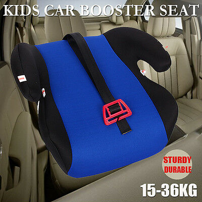 Safe Sturdy Baby Child Kid Children Car Booster Seat Blue Fit 3 To 12 Years Blue