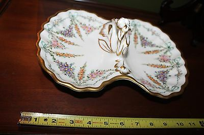 Antique Kpm Porcelain Serving Dish Divided Plate Vase Bowl