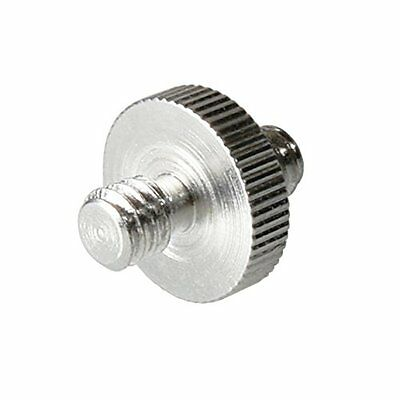 """5 Pieces 1/4"""" Male to 1/4"""" Male Threaded Screw Adapter for Camera Cage/Shoulder"""