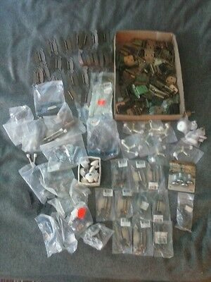 150+ Piece Lot Of Vintage Hardware Drawer Pulls Knobs Hinges Screws Handles