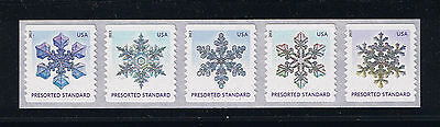 US Snowflakes #4808-12 (2014) Coil Postage Stamp Issue