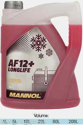 MANNOL LONGLIFE 5L Red AntiFreeze&Coolant Concentrate 5 Litre