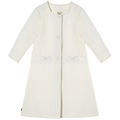 ✬ Jottum ✬ Long Jacke / Mantel Style Bacoor gr. 110 - 116 / 4 - 6 Jahre offwhite