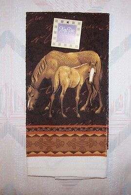Horse Terry Towel Mare And Foal Pattern Kay Dee Kitchen Towel