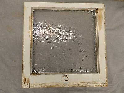 Antique Window Sash Iced Privacy Glass Pebbled Old Vtg House Bathroom 5235-15