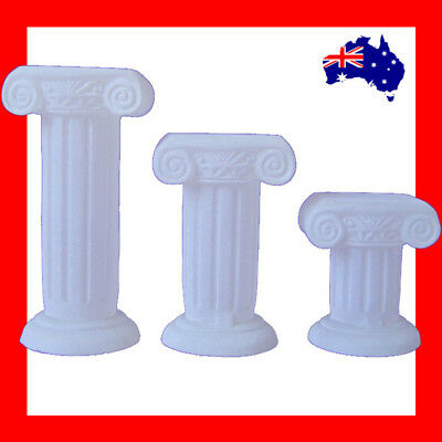 RARE Set of 3 Solid Resin Roman Column Jewellery Risers-Frost | AUSSIE Seller