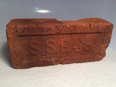 SSB Co Sutton Suderly Coymans NY Brick Red Clay Vintage Antique Architectural