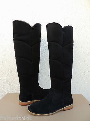 748e650eef6 UGG SAMANTHA BLACK Over The Knee Suede/ Sheepskin Boots, Us 6.5/ Eur 37.5  ~New