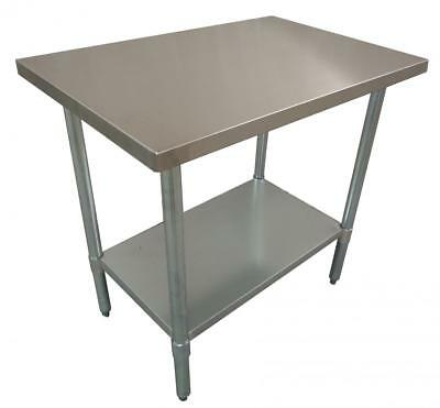 762 x 762mm FULL #430 STAINLESS STEEL SQUARE WORK CORNER BENCH TABLE FOOD KITCHE