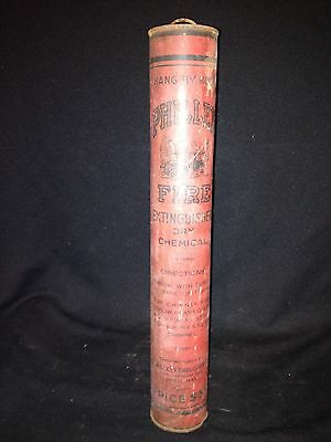 """Early 15 3/4"""" Phillex Dry Chemical Fire Extinguisher Lowell Ma"""