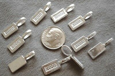 10 Sterling silver plated 22mm x8mm glue on pendant bails create pendants gpb007