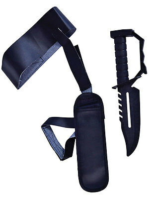 Army Military Gangster Ankle Holster & Toy Plastic Knife Fancy Dress Accessory