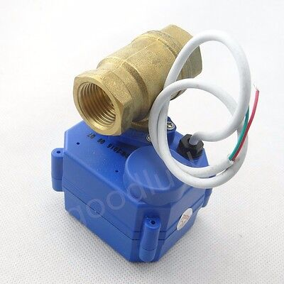 "Motorized Ball Valve Electrical Valve DN15 G1/2"" 12V 2 way"