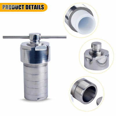 Hydrothermal Autoclave Reactor with Chamber Hydrothermal Synthesis 150ml