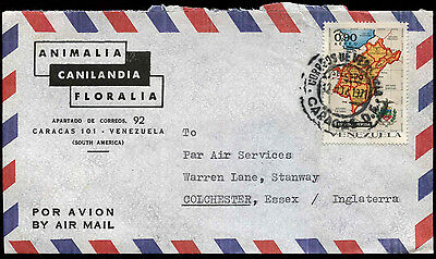 Venezuela 1971 Commercial Airmail Cover To England #C31602