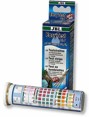 JBL EASYTEST 6 IN 1 TEST STRIPS KIT pH KH GH NITRATE NITRITE AQUARIUM FISH TANK