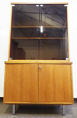 Glazed double bookcase / display cabinet