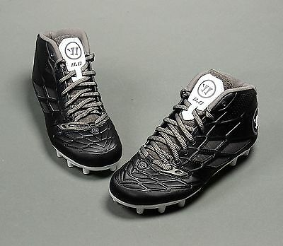 Warrior Burn 8.0 Junior MID Boys Lacrosse Cleats Black LAX (NEW) Lists for: $70