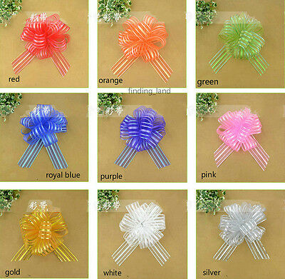 50MM X1450MM Extra Large Organza Ribbon Pull Bows Wedding Party Gift wrap-B1