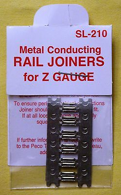 Z Scale - PECO SL-210 Metal Conducting RAIL JOINERS for Z Gauge - 24 per package