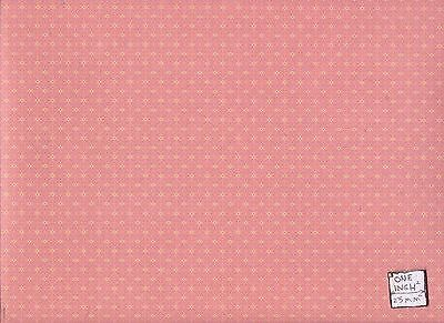 Brodnax Prints Gathering, Red 1VT333 Victorian wallpaper dollhouse 1/12 scale