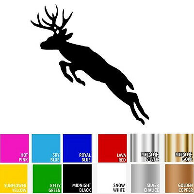 Deer Jumping Silhouette Animal for Macbook Laptop Car Window SUV Decal Sticker