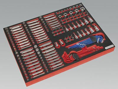 Sealey Tool Tray with Specialised Bits & Sockets 177pc