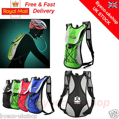 2L Hydration Pack Water Rucksack/backpack Bladder Bag Cycling Hiking Camping By