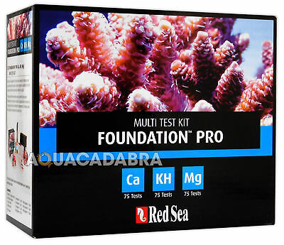 Red Sea Reef Foundation Pro Multi Test Kit Ca Kh Mg Marine Fish Tank Aquarium