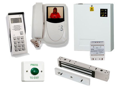 Professional Colour Video Door Entry Kit With Integrated Access