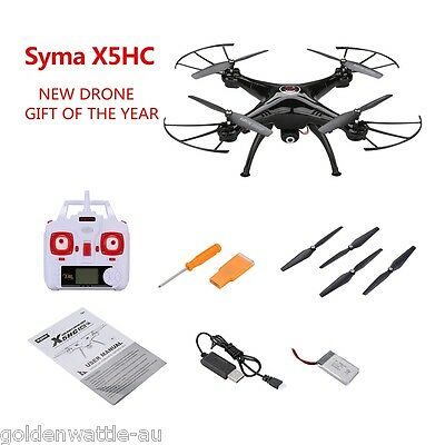 X5HC 2.0MP HD Camera Barometer Altitude Hold RC Headless Quadcopter Drone Black