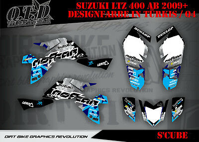 Scrub Dekor Kit Atv Suzuki Ltz 400 2009-2015 Graphic Kit S'cube B