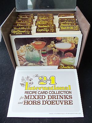 Vintage Mixed Drinks & Hors D'Oeuvre Recipe Card Collection! OVER 300 CARDS!1977