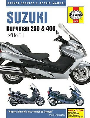 Haynes Suzuki Burgman 250 & 400 Scooter 1998 - 2011 Manual NEW 4909