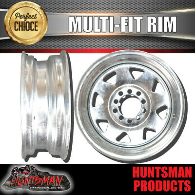 """14"""" Galvanised Sunraysia Multifit Wheel suits Rim Ford HT Pattern Trailer Boat"""