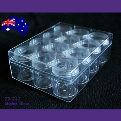 BEAD Case Display Storage Box CLEAR Acrylic | 12 Jars | AUSTRALIAN Seller