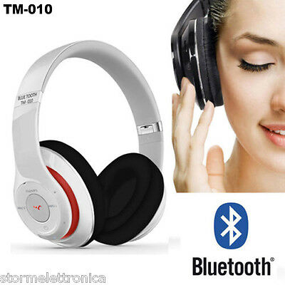 Cuffia Bluetooth Cuffia Stereo Microfono Mp3  Fm Slot Micro Sd X Iphone Android
