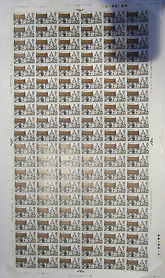SG815 1970 Rural Architecture 5d. Full sheet of 120. Unmounted mint.