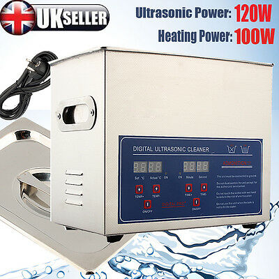 3L Liter Stainless Steel Industry Heated Ultrasonic Cleaner Heater with Timer