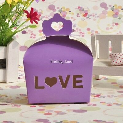 50 /100pcs LOVE Wedding Favour Boxes Candy Gift Party Sweet Boxes - CB3